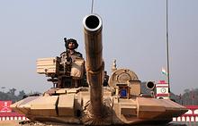 Танк Т-90С Bhishma на военном параде, январь 2018 года
