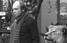 "Андрей Мягков на съемках фильма ""Гараж"", 1979 год"
