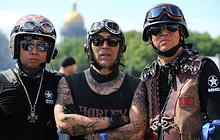 Участники мотопарад в рамках фестиваля St.Petersburg Harley Days 2018