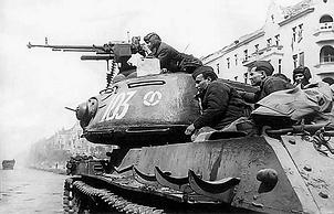 Танкисты и десант на ИС-2.