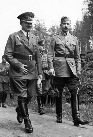 Адольф Гитлер в Финляндии на 75-летии маршала Маннергейма, 1942 год