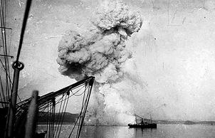 """Взрыв канонерки """"Кореец"""" в Чемульпо"""