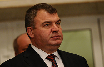 Former Russian defense minister Anatoly Serdyukov