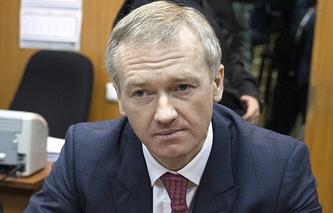 Vladislav Baumgertner in Basmanny court in Moscow