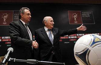 Russian Sports Minister Vitaly Mutko and FIFA President Joseph Blatter