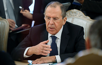 Russia's Foreign Minister Sergai Lavrov