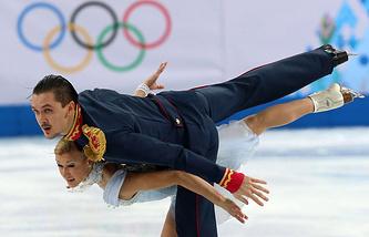 Russia's Tatiana Volosozhar and Maxim Trankov