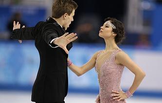 Russian ice dancers Elena Ilinykh and Nikita Katsalapov