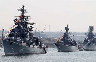 Russian Black sea fleet in Ukraine's Sevastopol (archive)