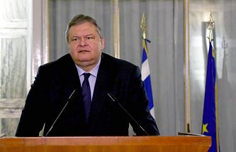 Greece's Foreign Minister Evangelos Venizelos