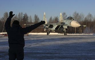 Russia's Su-27 fighter jet (archive)