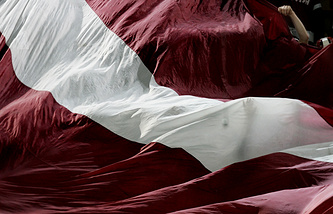Latvian national flag (archive)