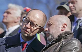 Arseniy Yatsenyuk and Oleksandr Turchynov