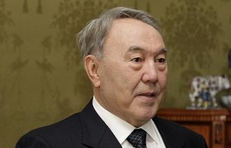 The prasident of Kazakhstan Nursultan Nazarbayev
