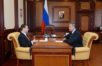 Dmitry Medvedev and Sergey Aksyonov