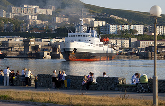 A port in Russia's Far East