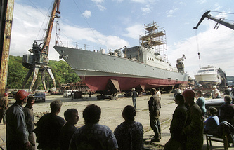 A ship building plant in Vladivostok (archive)
