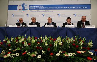 Foreign ministers of the five Caspian littoral states — Iran, Kazakhstan, Russia, Turkmenistan, Azerbaijan