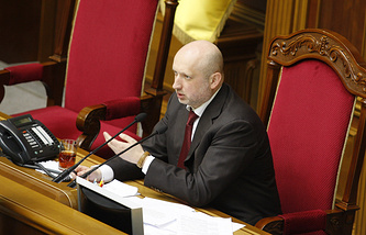 Parliament-appointed interim Ukrainian President and Parliament Speaker Oleksandr Turchynov