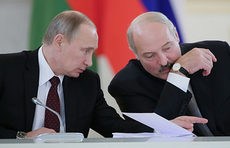 Russian President Vladimir Putin and Belarusian President Alexander Lukashenko