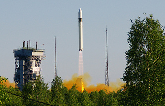 Rokot carrier rocket at the Plesents spaceport (archive)