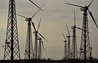 Wind power plant in Crimea