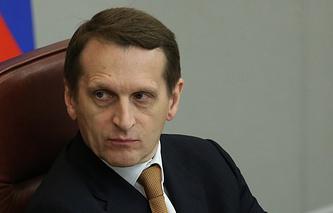 State Duma Speaker Sergei Naryshkin