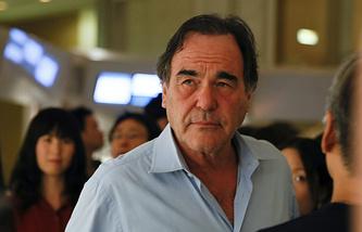 US film director Oliver Stone