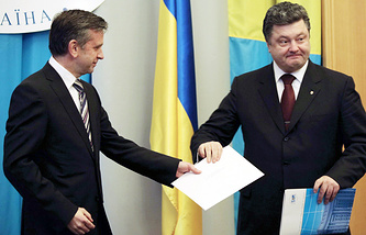 Russian Ambassador to Ukraine Mikhail Zurabov (left) and Petro Poroshenko (archive)
