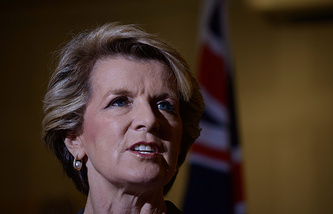 Australia's Foreign Minister Julie Bishop