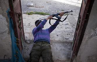 Militant fighter in Syria