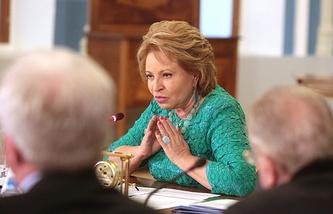 Speaker of the Federation Council Valentina Matviyenko