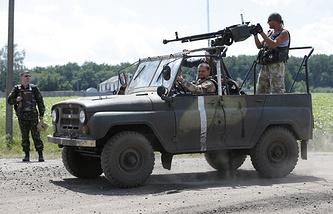Ukrainian army soldiers
