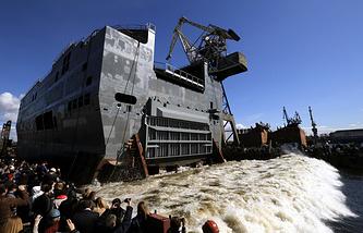 Navy Mistral amphibious assault ship 'Sevastopol' in St. Petersburg