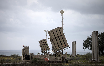 Iron Dome anti missile batteries in Israel