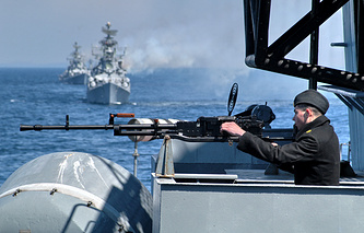 Russian-Indian Indra naval drills (archive)