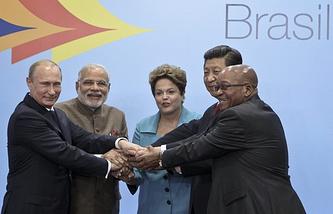 Vladimir Putin at the BRICS summit