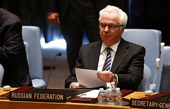 Russia's Ambassador to the United Nations Vitaly Churkin