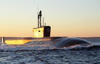 The Vladimir Monomakh nuclear submarine