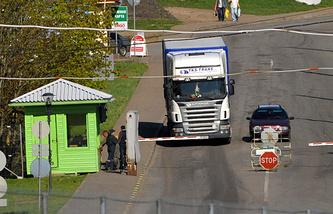 An Estonian border checkpoint