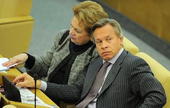 Alexei Pushkov (right)