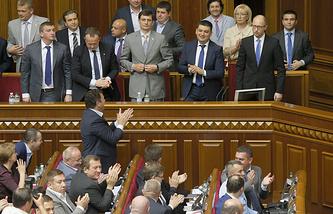 A session of the Ukrainian parliament