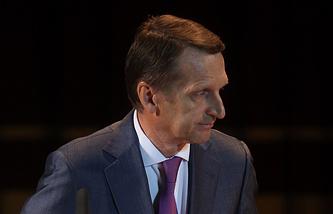 Russian State Duma Speaker Sergei Naryshkin
