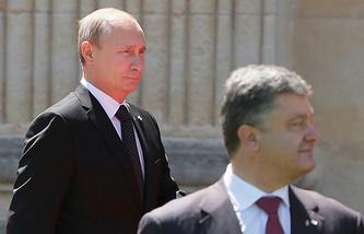Russian President Vladimir Putin and Ukrainian President Petro Poroshenko