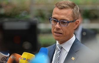 Finland's Prime Minister Alexander Stubb