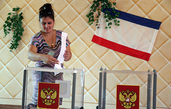 Voting in Crimea