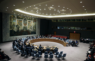 UN Security Council during session