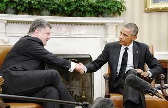 Petro Poroshenko and Barack Obama