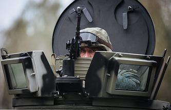 A Ukrainian National Guard soldier