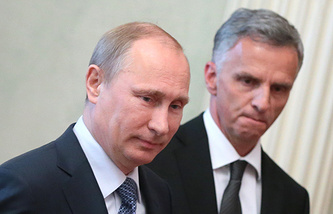 Vladimir Putin and Didier Burkhalter